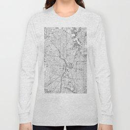 Vintage Map of San Antonio Texas (1953) BW Long Sleeve T-shirt