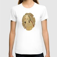 golden retriever T-shirts featuring golden retriever dog modern by bri.buckley