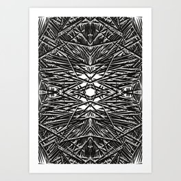 Blak and white Art Print