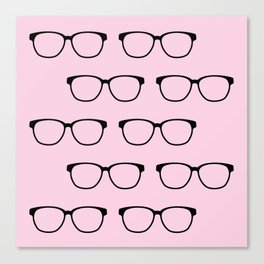 Hipster Eyeglasses Canvas Print