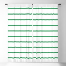 Kelly Green Breton Stripes Blackout Curtain