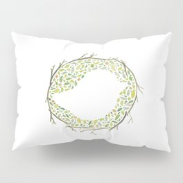 Green Little Bird Nest Pillow Sham