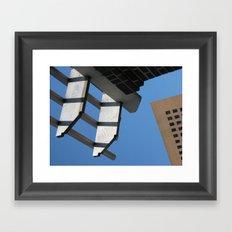 Sky Grids Framed Art Print