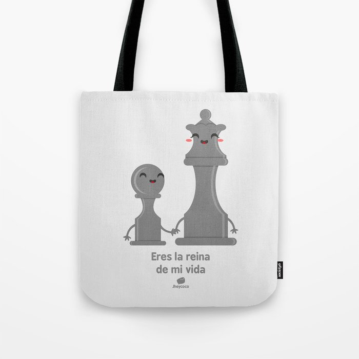 VIDA Tote Bag - black and white tote by VIDA