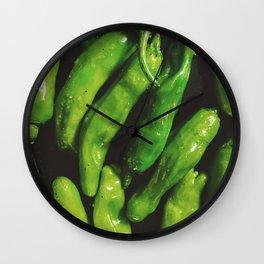 shishito season Wall Clock