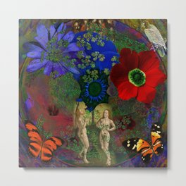 Adam and Eve's Harmonious Earth Metal Print