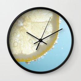 Bubbly Lemon Wall Clock