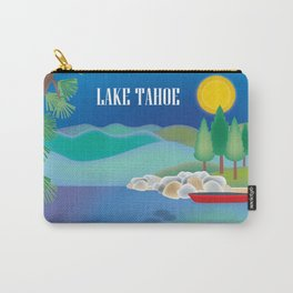 Lake Tahoe - Skyline Illustration by Loose Petals Carry-All Pouch