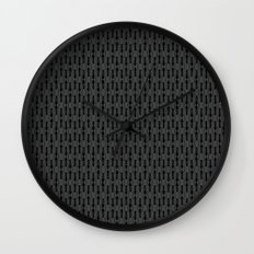 ants - dark Wall Clock