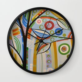 Abstract Art Landscape Tree Painting ... The Sound of Sunshine 2 Wall Clock