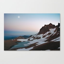 Alpine Lake Moonrise Canvas Print