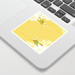 Spring Birds (Yellow) Sticker