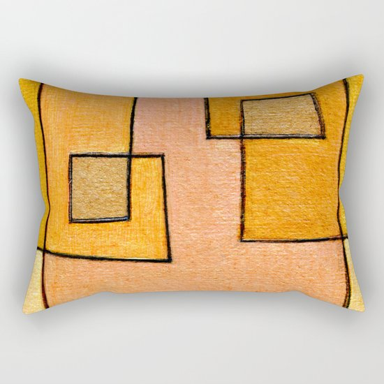 Protoglifo 04 'yellow hugging pink' Rectangular Pillow