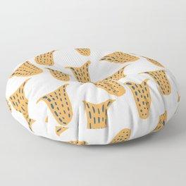 Ochre pitcher plant Floor Pillow