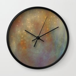 Coming Up Embers Wall Clock