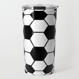 Black and White 3D Ball pattern deign Travel Mug