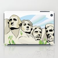 rushmore iPad Cases featuring Mont Rushmore - United States by Dues Creatius