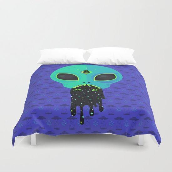 Alien Flu Duvet Cover
