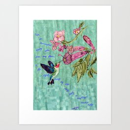 The Bittersweet Nectar of the Here and Now Art Print