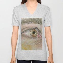 Hazel eyes Unisex V-Neck