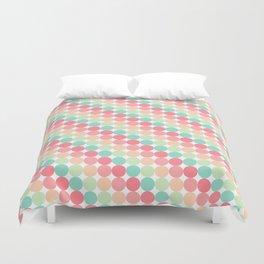 bubble gum polka dot stripes Duvet Cover