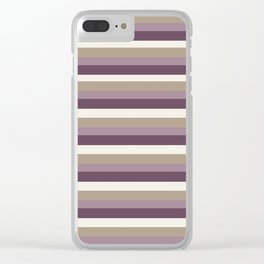Stripes in Magenta, Lavender and Cream Clear iPhone Case
