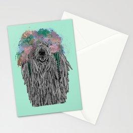 Dredlock Dog (Pastel Aqua Edition) Stationery Cards