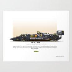 #1 LOLA - 1993 - T9300 - Rahal Art Print