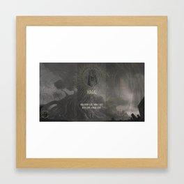 Hagal Framed Art Print