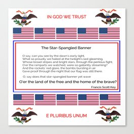 The star spangled banner 2 -america,usa,american flag,patriot, national anthem,stars and strips Canvas Print