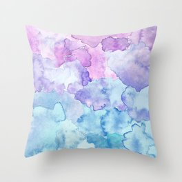 Watercolor clouds Throw Pillow