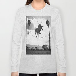 The elephant on the tightrope Long Sleeve T-shirt