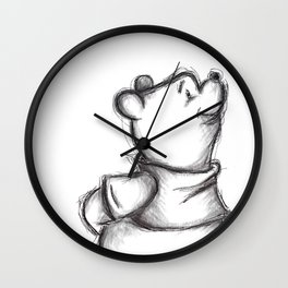 Insightful Pooh Wall Clock