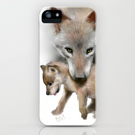 Wolf and Pup iPhone Case