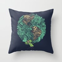 prince Throw Pillows featuring Prince Atlas by Hector Mansilla