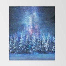 Forest under the Starlight Throw Blanket