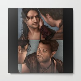 Nagron First Kiss (Spartacus) Color Version Metal Print