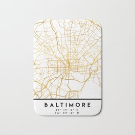 BALTIMORE MARYLAND CITY STREET MAP ART Bath Mat