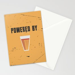 Funny Powered By Chai Tea Quote Stationery Cards