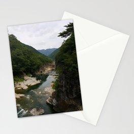Ryuokyo Gorge Nikko Japan | Beautiful Waterfall River Photo Stationery Cards