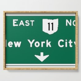 New York City Interstate 80 Sign Serving Tray