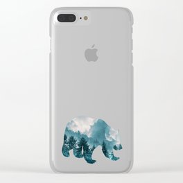 Bear of Forest and Sky Clear iPhone Case