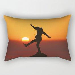 She Kicks the Sun (Color) Rectangular Pillow