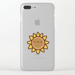 Cute Kawaii Sunflower Clear iPhone Case