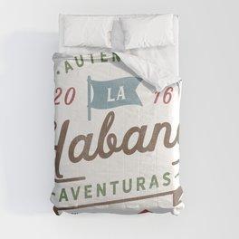 Vintage Havana Cuba Logo Comforters