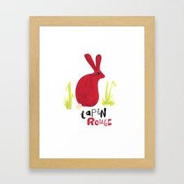 Lapin Rouge Framed Art Print