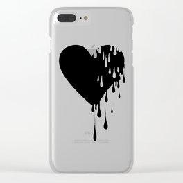 Bleeding Black Heart Clear iPhone Case