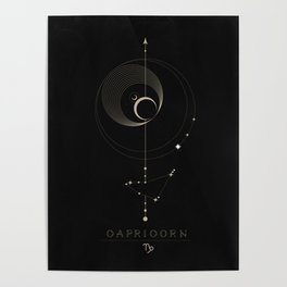 Capricorn Zodiac Constellation Poster