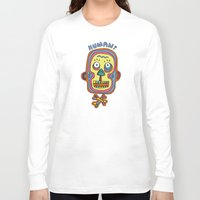 human Long Sleeve T-shirts featuring Human  by PINT GRAPHICS