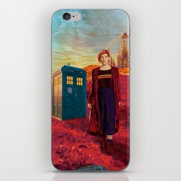13th Doctor at Gallifrey Planet iPhone Skin